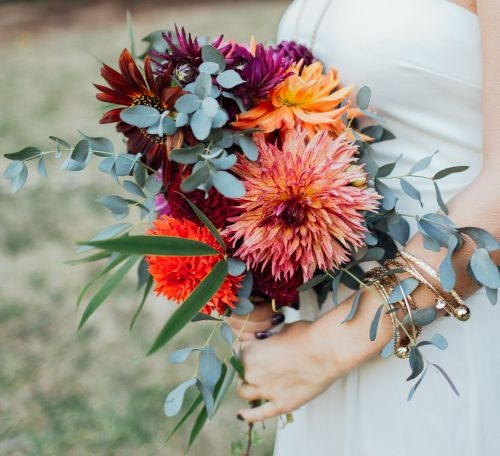 Debbie Bride Bouquet | Dahlia Wedding Bride Bouquets