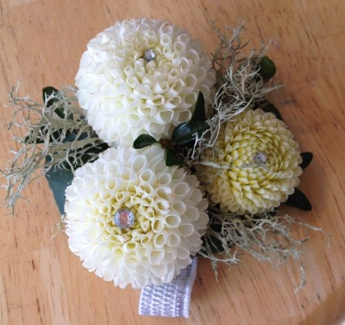 Tiny Treasure Corsage | Dahlia Wedding Bride Bouquets